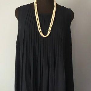 Sharagano, 16W, Navy Sleeveless Dress